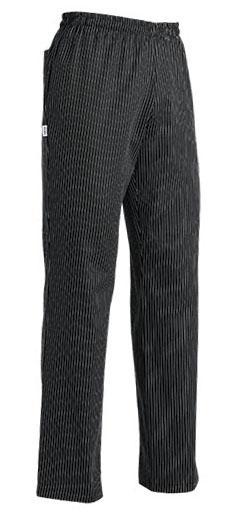 EGOCHEF Kuchárske nohavice SIR - jemné biele pásy, 100% bavlna S