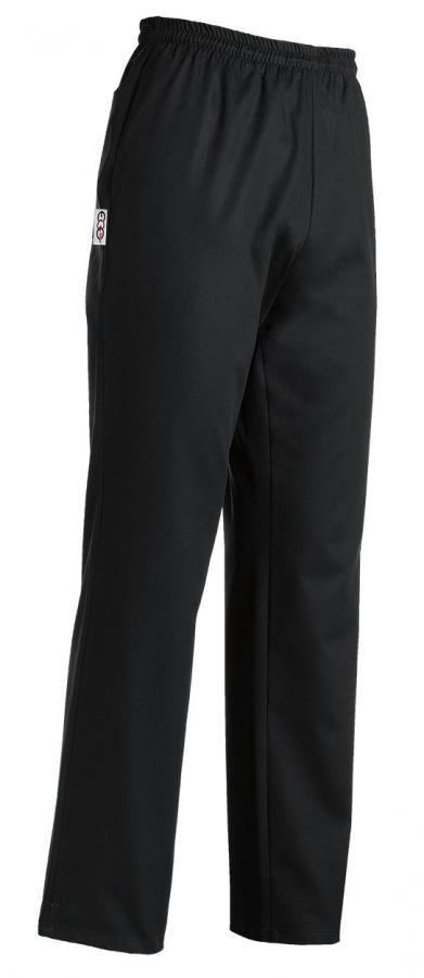 EGOCHEF Kuchárske nohavice čierne XL