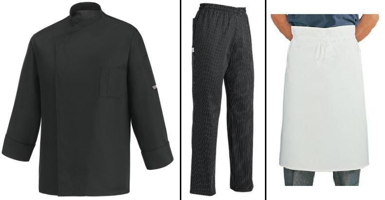 EGOCHEF SET PRE ŠÉFKUCHÁRA: Rondon Ottavio, nohavice, zástera čierna,XL,XL,čierna