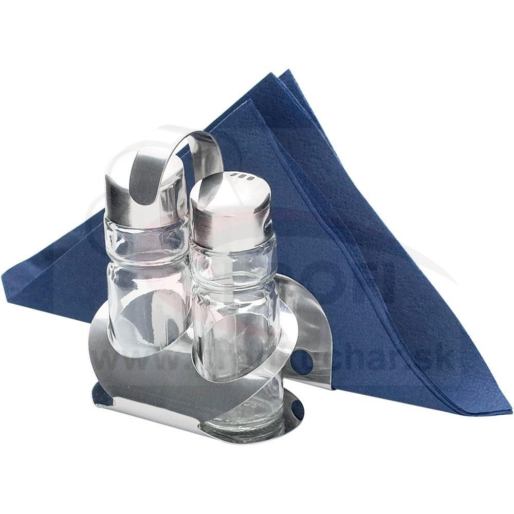 Korenička na soľ, korenie, držiak na servítky Stalgast®