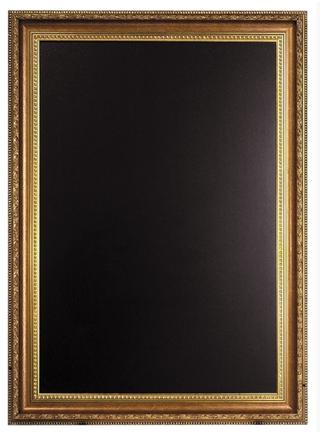 SECURIT Nástenná popisovacia tabuľa GOLD - zlatý ozdobný rám