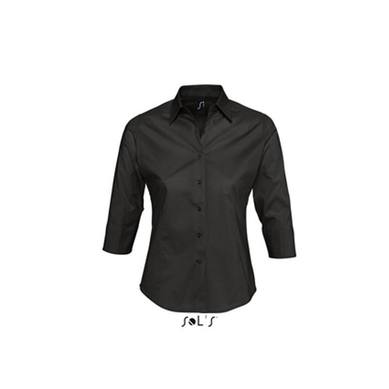 SOL´S Dámska blúzka s 3/4 rukávom - rôzne farby Čierna,L