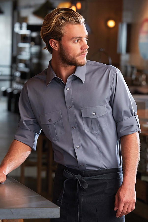CHEF WORKS Exkluzívna pánska košeľa XS