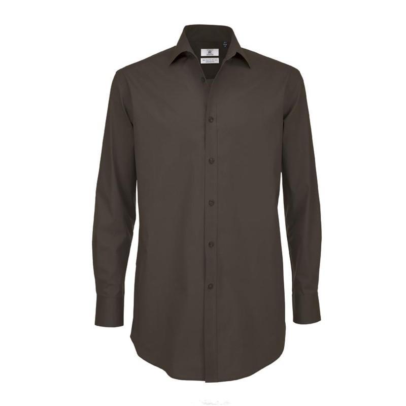 B&C Pánska čašnícka košeľa dlhý rukáv - 4 farby Biela,S