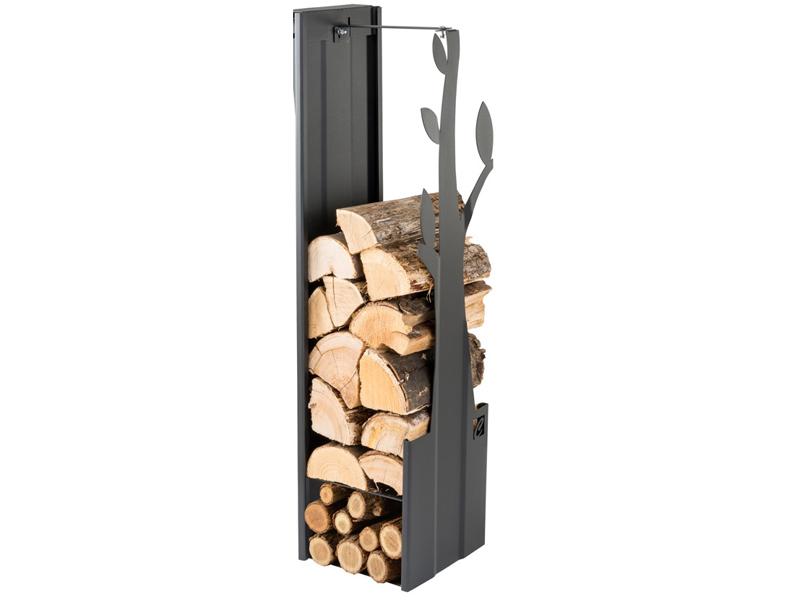 CAFDESIGN Zásobník na drevo strom černý 270mm
