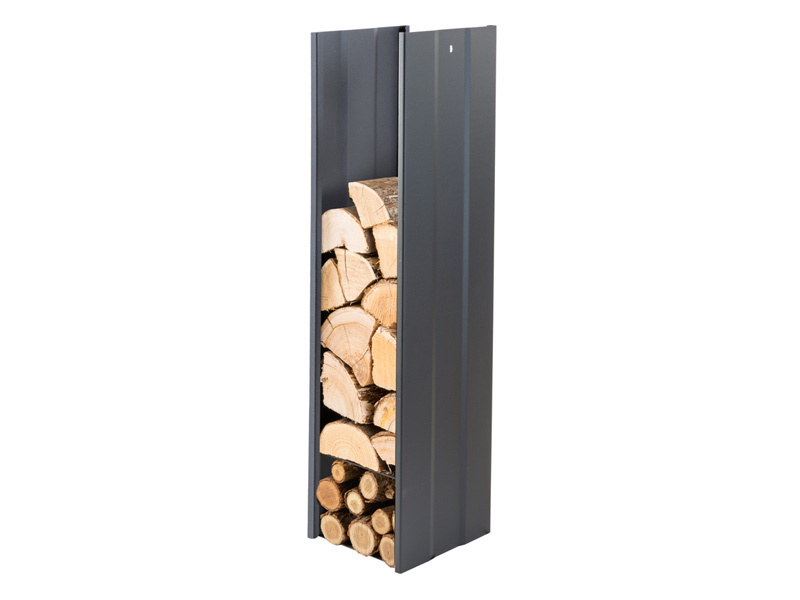 CAFDESIGN Zásobník na drevo čierny 270mm