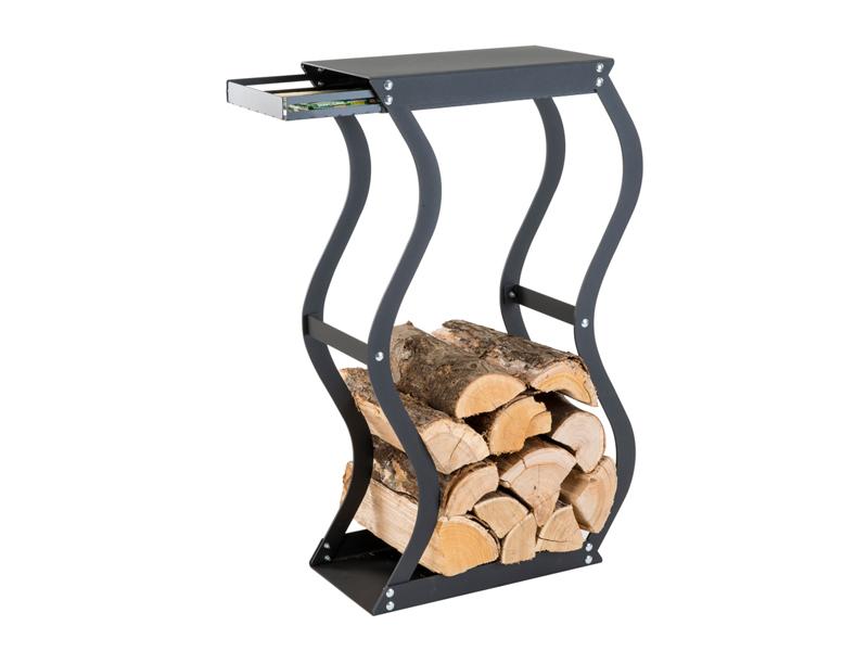 CAFDESIGN Zásobník na drevo Zigzag se zásuvkou