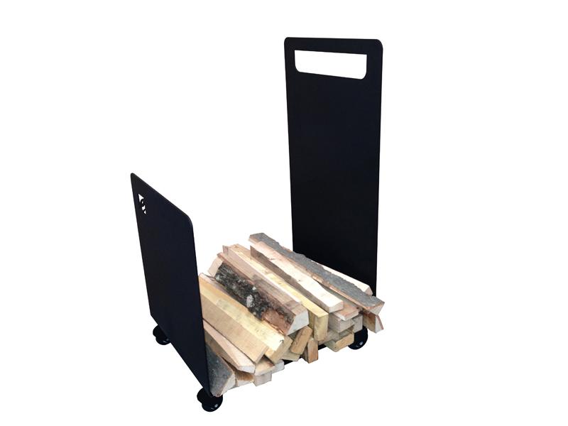 CAFDESIGN Zásobník na drevo vozík s kolečky