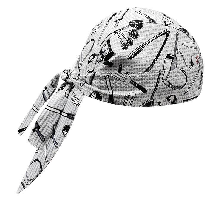 EGOCHEF Kuchárska šatka na hlavu - vzor gastro náradie