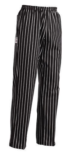 EGOCHEF Kuchárske nohavice AMERICA - široké pásy, 100% bavlna S
