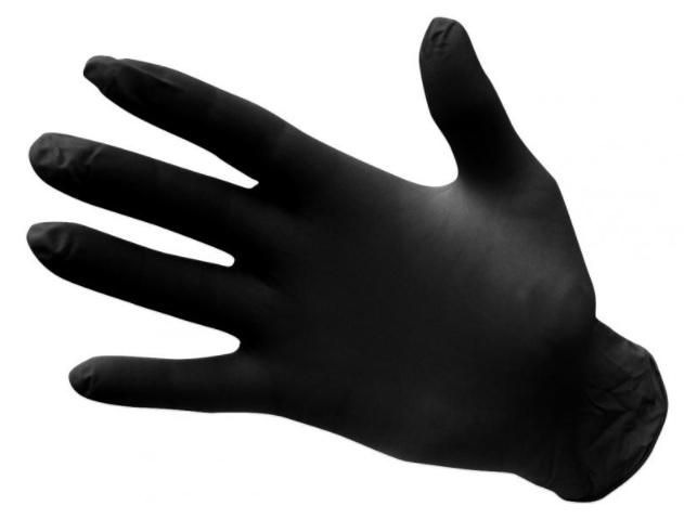 PORTWEST Nitrilové jednorázové rukavice nepúdrované - čierne XL