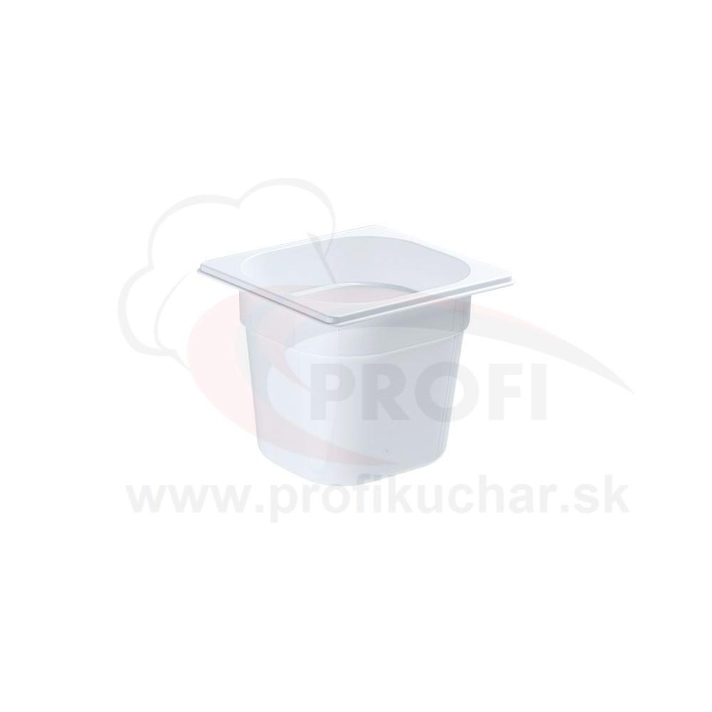 GN nádoba 1/6-150mm, bielý polykarbonát