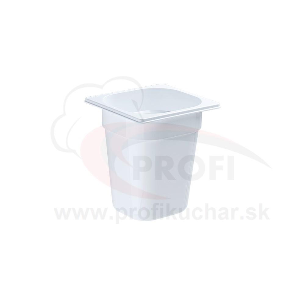 GN nádoba 1/6-200mm, bielý polykarbonát