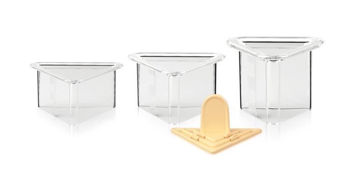 Tescoma formičky na tvarovanie pokrmov PRESTO Food Style, trojuholníky, 3 ks