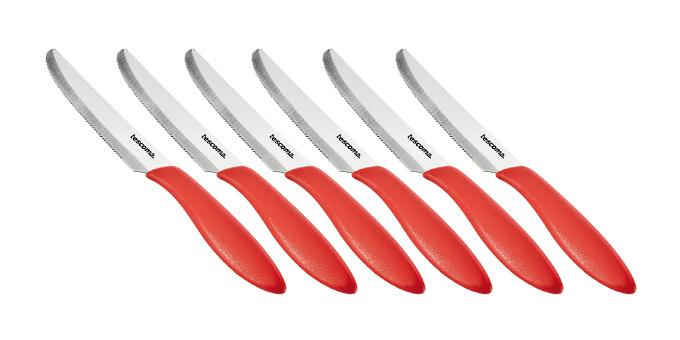 Tescoma nôž jedálenský PRESTO 12 cm, 6 ks, červená