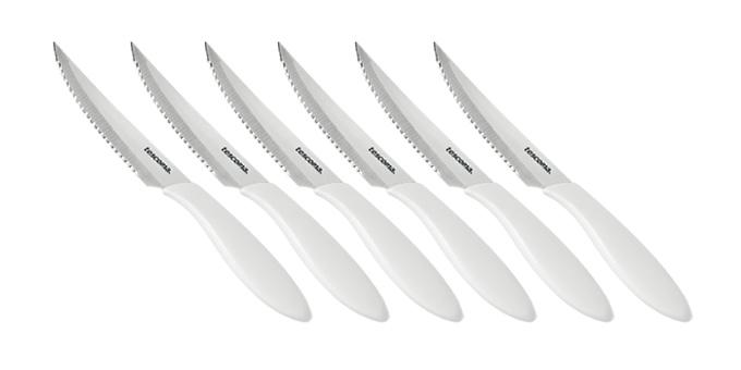 Tescoma nôž steakový PRESTO 12 cm, 6 ks, biela