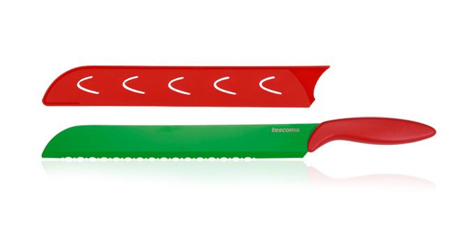 Tescoma antiadhézny nôž na vodový melón PRESTO TONE 30 cm červená