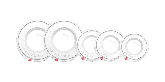 Tescoma plastové pokrievky UNICOVER, 5 ks, pre súpravy riadu ULTIMA, PRESIDENT, VISION