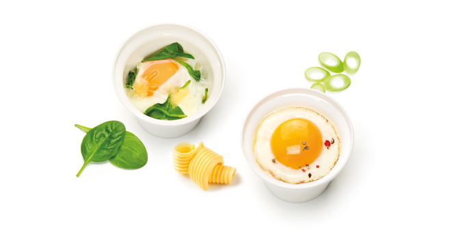 Tescoma miska na varené vajcia PURITY MicroWave, 2 ks