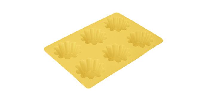 Tescoma forma - 6 kvetov DELÍCIA SILICONE žltá