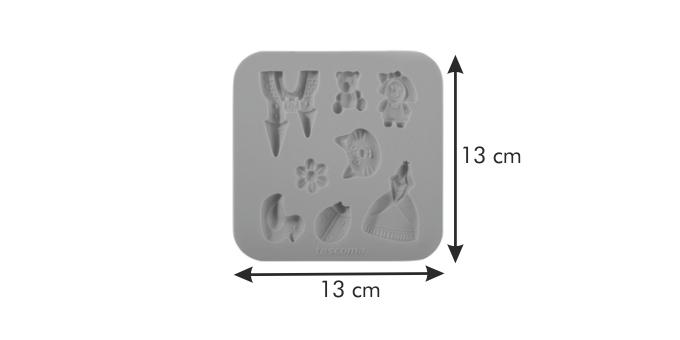 Tescoma silikónové formičky DELÍCIA DECO, pre dievčatá