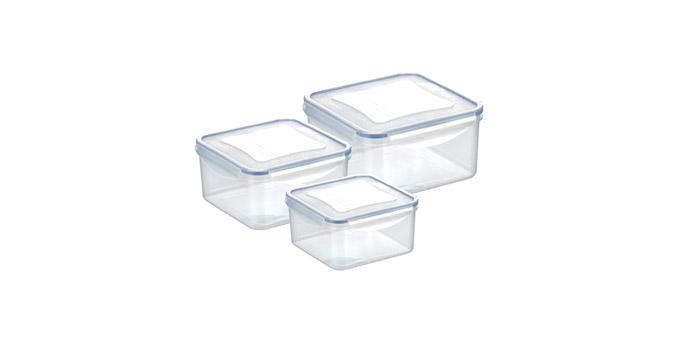 Tescoma dóza FRESHBOX 3 ks, 0.4,0.7,1.2 l, štvorcová