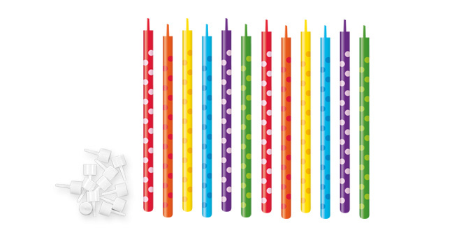 Tescoma tort.sviečky DELÍCIA KIDS 10 cm, 12 ks Bodky