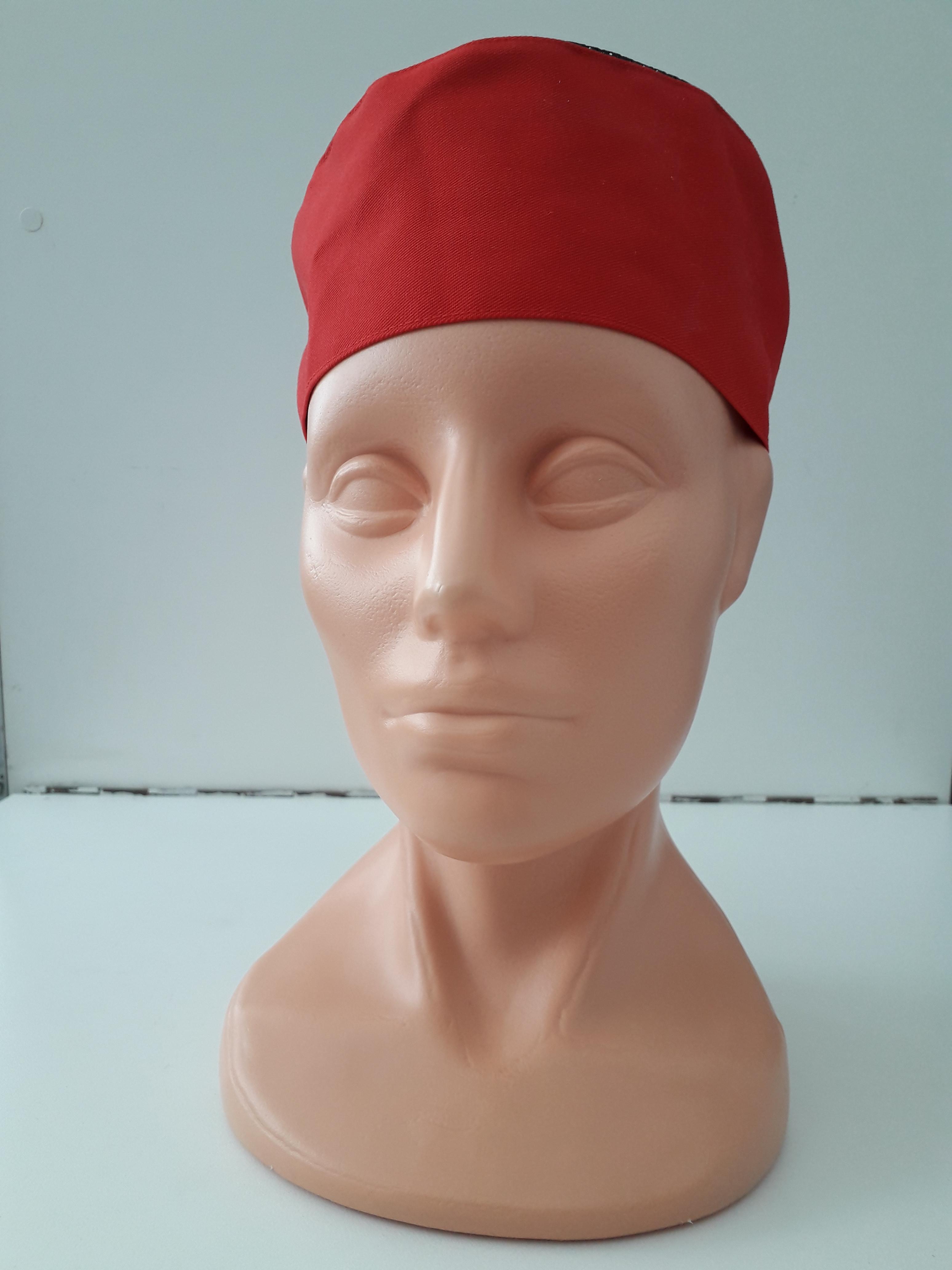 PROFIKUCHAR.SK Cool vent vzdušná kuchárska čiapka - červená na gumku